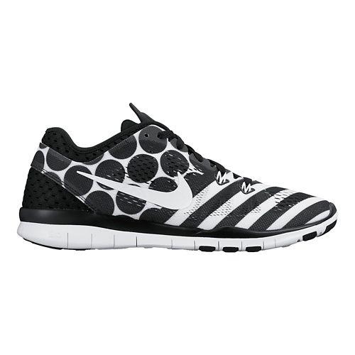 Womens Nike Free 5.0 TR Fit 5 Print Cross Training Shoe - Black/White 6.5