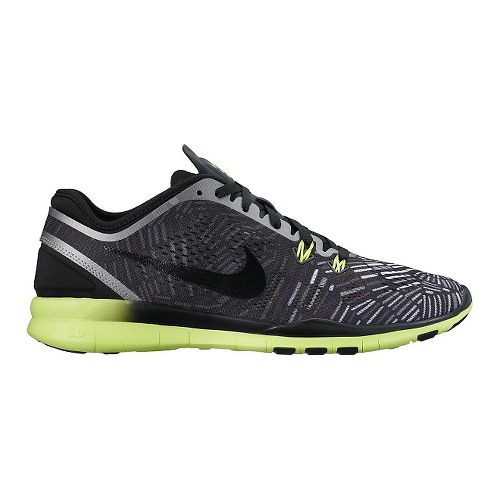 Womens Nike Free 5.0 TR Fit 5 Print Cross Training Shoe - Black/Volt 10