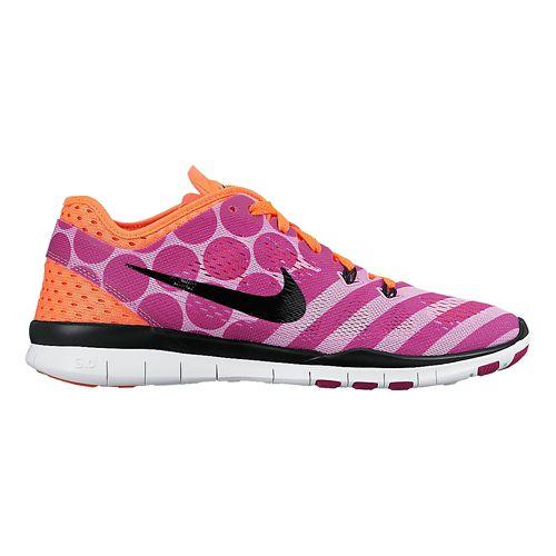Womens Nike Free 5.0 TR Fit 5 Print Cross Training Shoe - Fuchsia 10