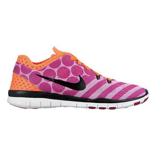 Womens Nike Free 5.0 TR Fit 5 Print Cross Training Shoe - Fuchsia 10.5