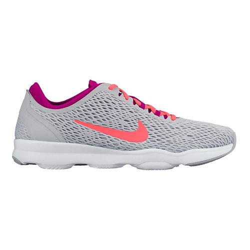 Womens Nike Zoom Fit Cross Training Shoe - Grey/Pink 8.5
