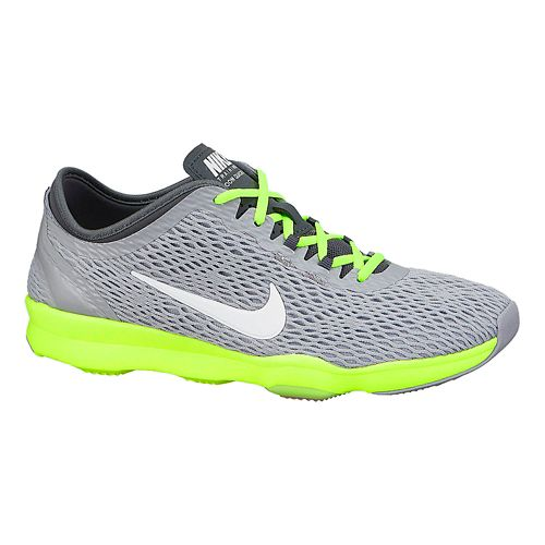 Womens Nike Zoom Fit Cross Training Shoe - Platinum/Pink 10.5
