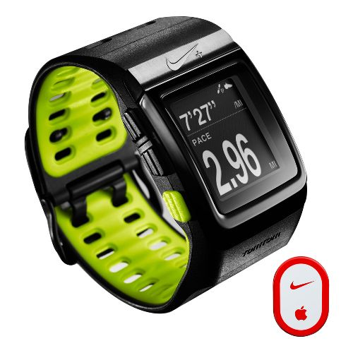 Nike + SportWatch GPS w/Sensor Monitors - Black/Green
