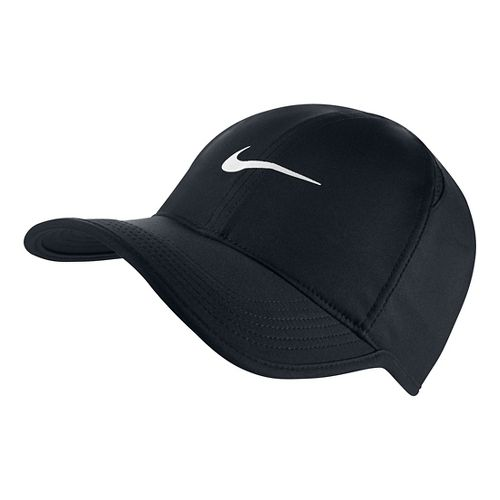 Mens Nike Featherlight Cap Headwear - Black
