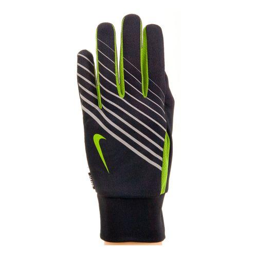 Mens Nike Lightweight Tech Run Glove Handwear - Black/Volt L