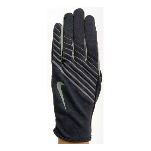 Womens Nike Lightweight Tech Run Glove Handwear - Black/Anthracite M