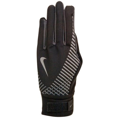 Womens Nike Elite Storm Fit Tech Run Glove Handwear - Black/Anthracite M