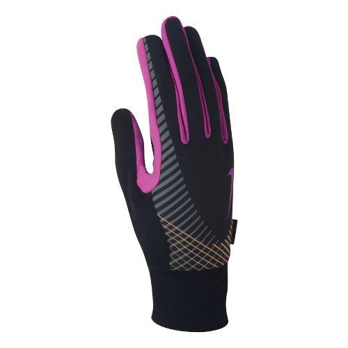 Womens Nike Elite Storm Fit Tech Run Glove Handwear - Black/Pink S
