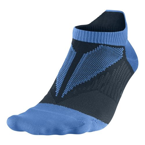 Nike Elite Hyper-Lite No Show Tab Socks - Blue L