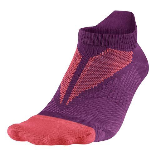 Nike Elite Hyper-Lite No Show Tab Socks - Crimson M