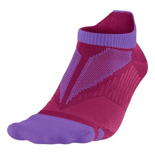 Nike Elite Hyper-Lite No Show Tab Socks - Hyper/Grape M