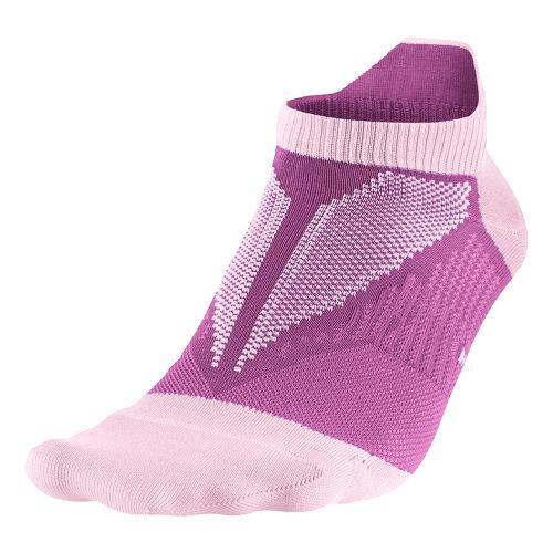 Nike Elite Hyper-Lite No Show Tab Socks - Pink M
