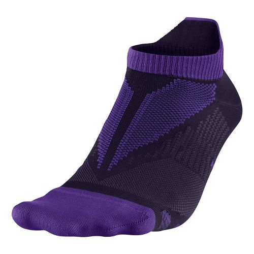 Nike Elite Hyper-Lite No Show Tab Socks - Purple M