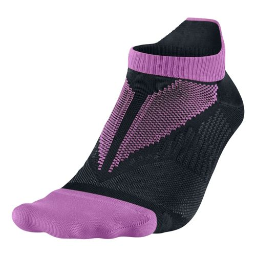 Nike Elite Hyper-Lite No Show Tab Socks - Red/Violet M