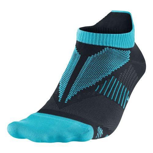Nike Elite Hyper-Lite No Show Tab Socks - Turquoise M