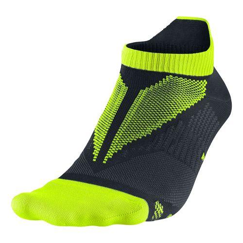 Nike Elite Hyper-Lite No Show Tab Socks - Volt M
