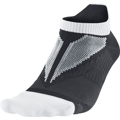 Nike Elite Hyper-Lite No Show Tab Socks - White/Anthracite L