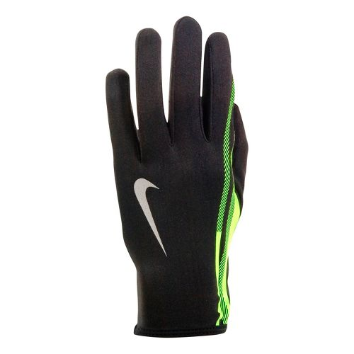 Mens Nike Swift Attitude Run Glove Handwear - Black/Volt L