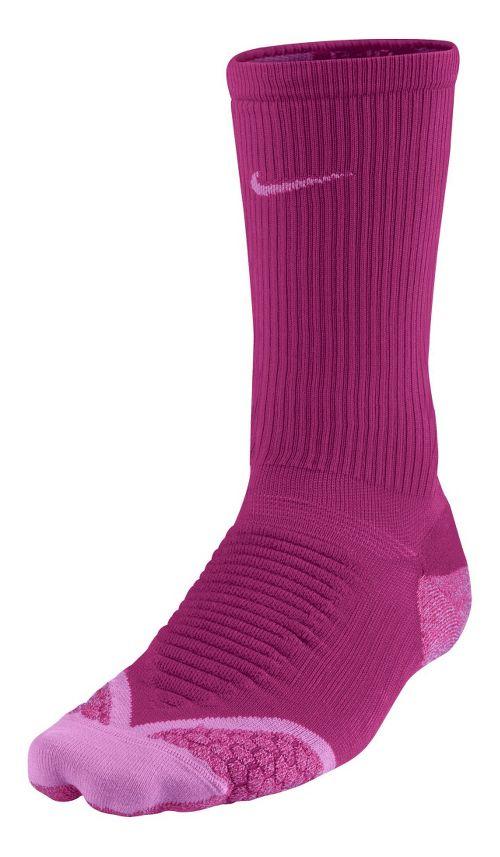 Nike Elite Running Cushion Crew Socks - Bright/Magenta M