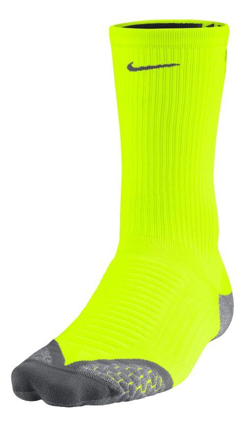 Nike Elite Running Cushion Crew Socks - Volt XL