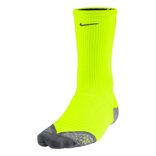 Nike Elite Running Cushion Crew Socks - Volt L