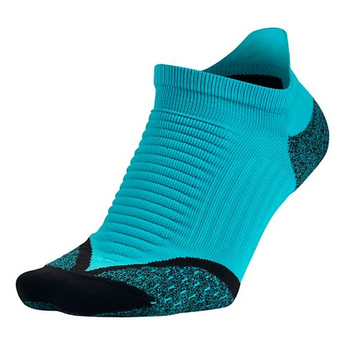 Nike Elite Running Cushion No Show Tab Socks - Omega Blue M