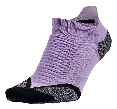 Nike Elite Running Cushion No Show Tab Socks - Urban Lilac M