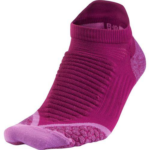 Nike Elite Running Cushion No Show Tab Socks - Bright Magenta M