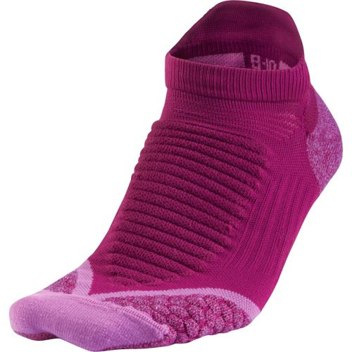 Nike Elite Running Cushion No Show Tab Socks - Bright/Magenta M