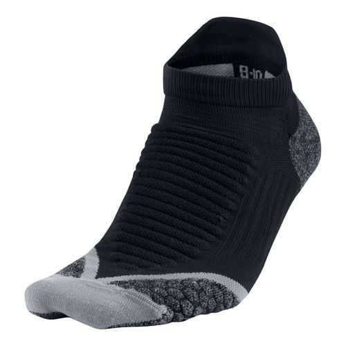 Nike Elite Running Cushion No Show Tab Socks - Black M