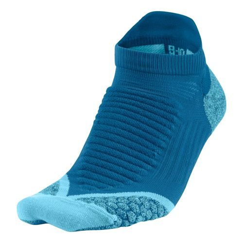 Nike Elite Running Cushion No Show Tab Socks - Blue L