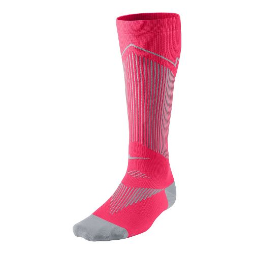 Nike Elite Running Graduated Compression Sock Injury Recovery - Hyper/Punch M