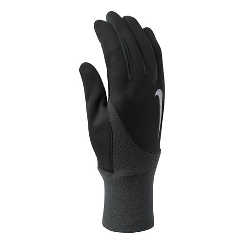 Mens Nike Element Thermal Run Gloves Handwear - Black/Anthracite L