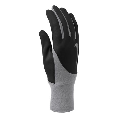 Womens Nike Element Thermal Run Gloves Handwear - Black/Cool Grey S