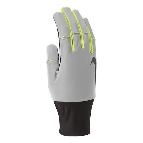 Mens Nike Vapor Flash Run Gloves Handwear - Black/Volt L