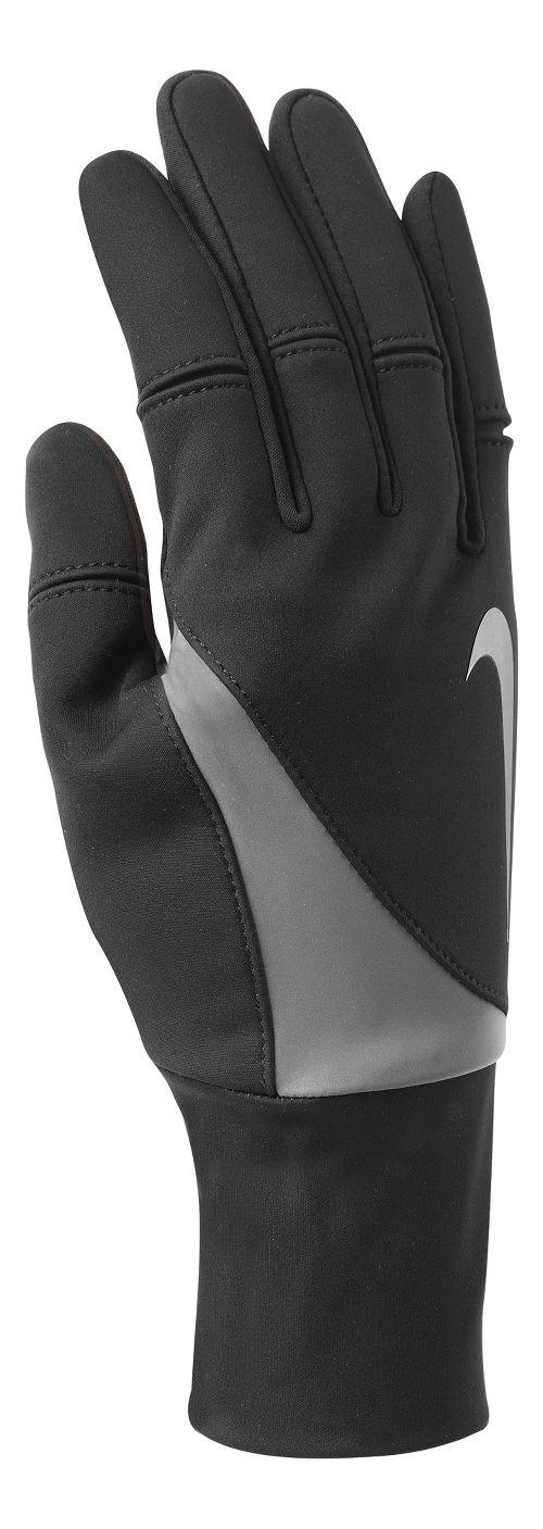 Womens Nike Shield Run Gloves Handwear - Black M