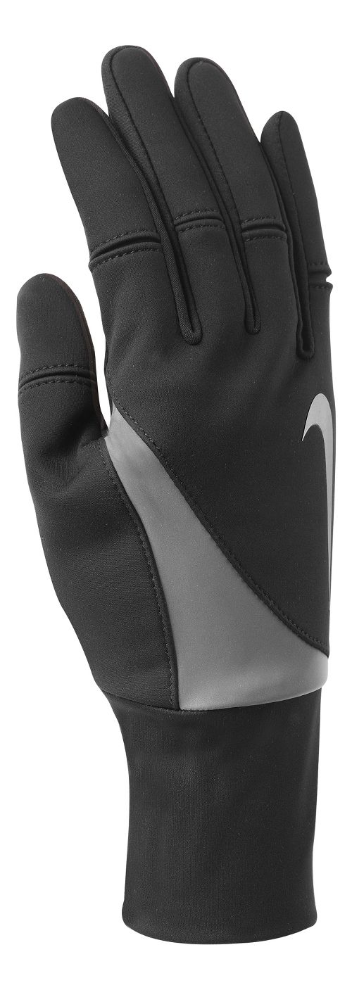 Womens Nike Shield Run Gloves Handwear - Black S