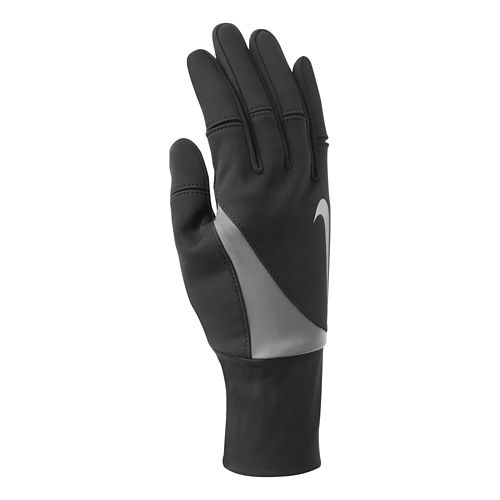 Womens Nike Shield Run Gloves Handwear - Black M