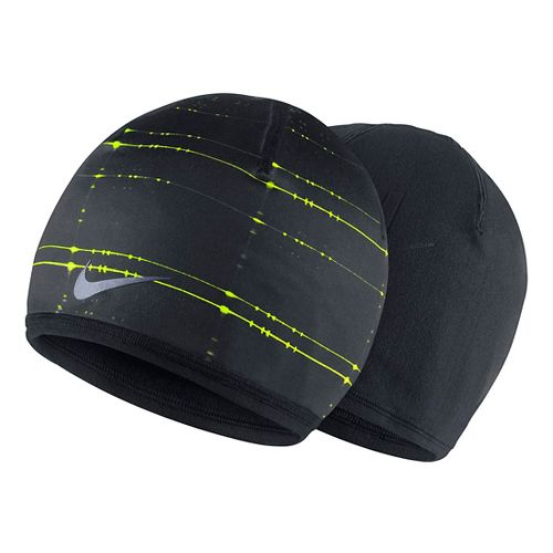 Mens Nike Run Cold Weather Beanie Headwear - Black/Volt
