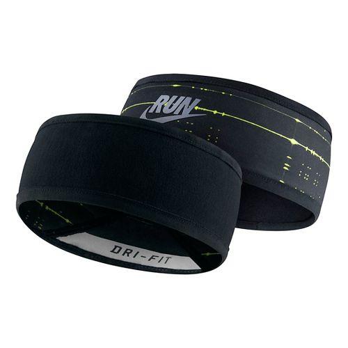 Nike Run Cold Weather Headband Headwear - Black/Volt