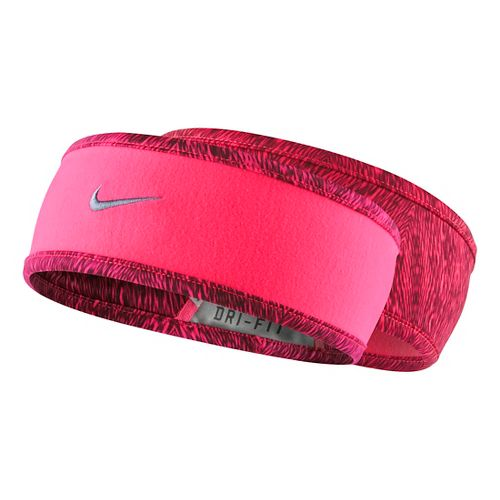 Womens Nike Run Cold Weather Reversible Headband Headwear - Hyper/Punch