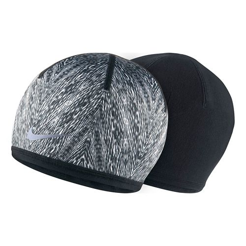 Womens Nike Run Cold Weather Beanie Headwear - Black/White
