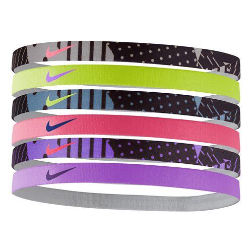 Womens Nike Printed Headbands 6 pack Headwear - Grey Mist