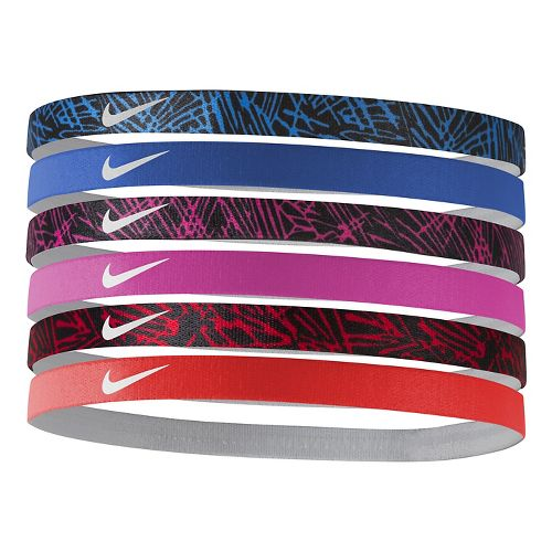Womens Nike Printed Headbands 6 pack Headwear - Grey Mist