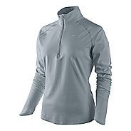 Womens Nike Soft Hand Half Zip Long Sleeve Technical Tops