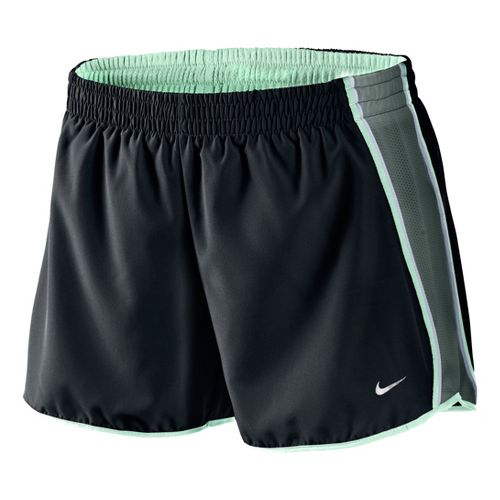 Womens Nike Pacer Lined Shorts - Black/Dark Olive/Cool Green L