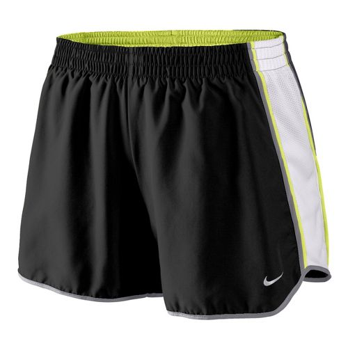 Womens Nike Pacer Lined Shorts - Black/White/Lime XL