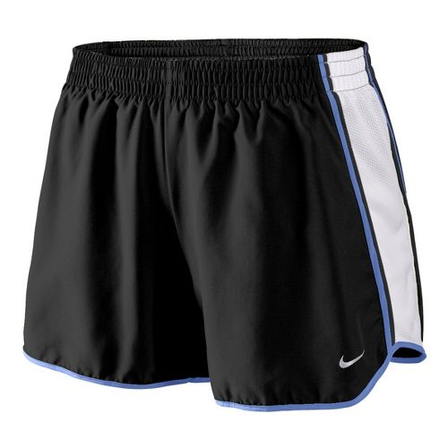 Womens Nike Pacer Lined Shorts - Black/White/Mega Blue L