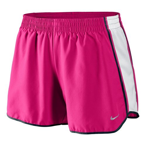 Womens Nike Pacer Lined Shorts - Cherry/White M
