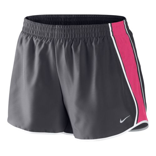 Womens Nike Pacer Lined Shorts - Dark Grey/Pink Flame M